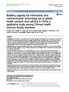 Building capacity for information and ... - Semantic Scholar
