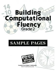 Building Computational Fluency - Grade 2 Sample Pages