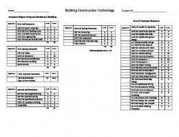 Building Construction Technology