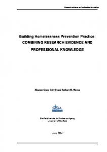 Building Homelessness Prevention Practice - King's College London