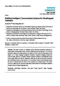 Building Intelligent Communication Systems for Handicapped ... - MDPI