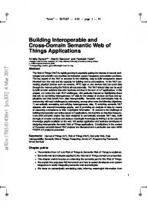 Building Interoperable and Cross-Domain Semantic Web of Things