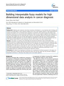 Building interpretable fuzzy models for high dimensional data analysis ...