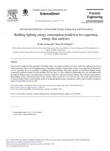 Building Lighting Energy Consumption Prediction for ... - ScienceDirect