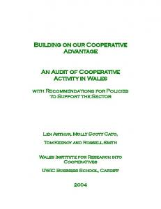 Building on our Cooperative Advantage An Audit of ... - CiteSeerX