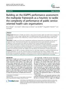 Building on the EGIPPS performance assessment ... - BioMedSearch