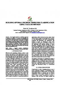Building Optimal Decision Trees For Classification Using ... - IRD India