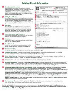 Building Permit Information - City of London