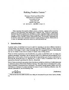 Building Proofs in Context