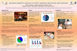 Building Research Capacity in Egypt through ...