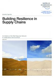 Building Resilience in Supply Chains Report