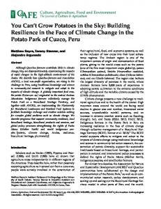Building Resilience in the Face of Climate Change in ...