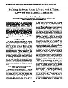 Building Software Reuse Library with Efficient Keyword based Search ...