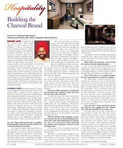 Building the Chatwal Brand