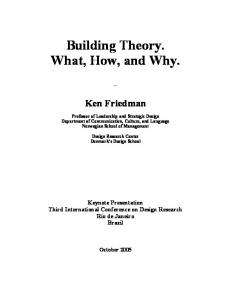 Building Theory. What, How, and Why. - GEOCITIES.ws
