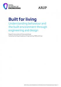 Built for living: understanding behaviour and the built environment