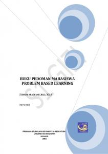 BUKU PEDOMAN MAHASISWA PROBLEM BASED LEARNING