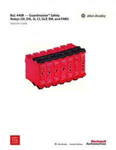 Bul. 440R - Guardmaster Safety Relays - Rockwell Automation