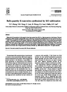 Bulk-quantity Si nanowires synthesized by SiO ...