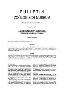 Bulletin - Naturalis repository