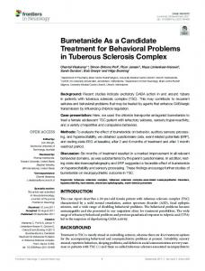 Bumetanide As a Candidate Treatment for ... - Semantic Scholar