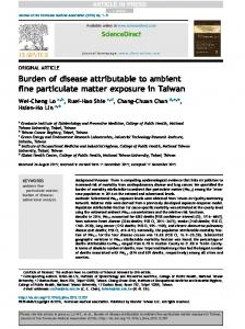 Burden of disease attributable to ambient fine particulate matter ...