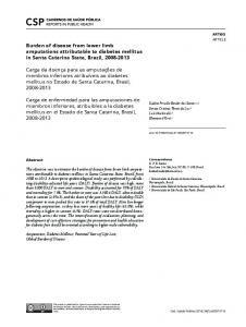 Burden of disease from lower limb amputations attributable ... - Scielo.br