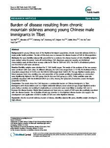 Burden of disease resulting from chronic mountain