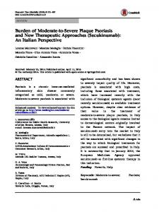 Burden of Moderate-to-Severe Plaque Psoriasis and ... - Springer Link