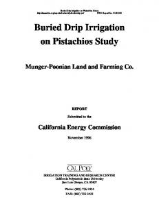 Buried Drip Irrigation on Pistachios Study - Munger-Poonian Land and ...