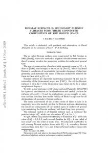 BURNIAT SURFACES II: SECONDARY BURNIAT SURFACES FORM ...