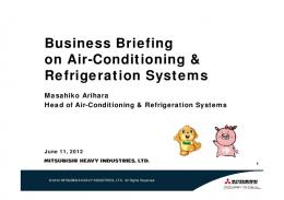 Business Briefing on Air-Conditioning & Refrigeration Systems