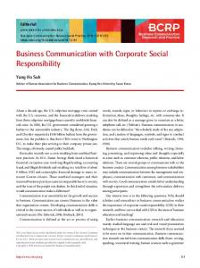 Business Communication with Corporate Social Responsibility