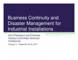 Business Continuity and Disaster Management for ...