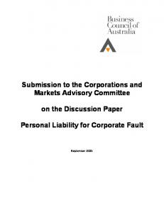 Business Council of Australia - Corporations and Markets Advisory ...