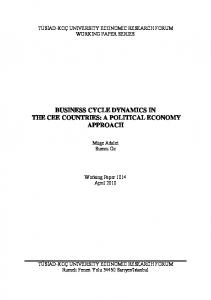 business cycle dynamics in the cee countries: a political ... - Core