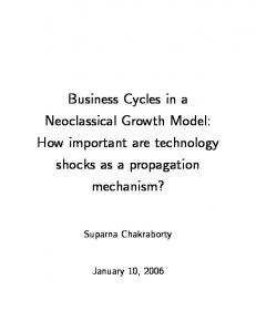 Business Cycles in a Neoclassical Growth Model: How important are ...