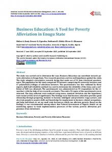 Business Education - Scientific Research Publishing