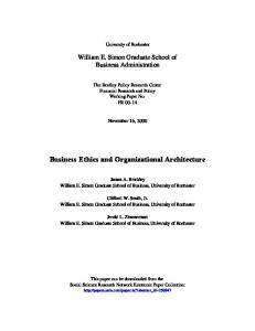 Business Ethics 2000 - SSRN papers