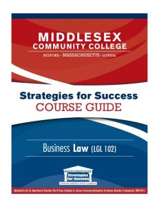 Business Law (LGL 101) - Middlesex Community College