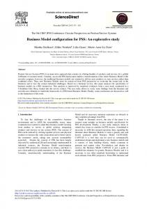 Business Model Configuration for PSS: An Explorative ... - Science Direct