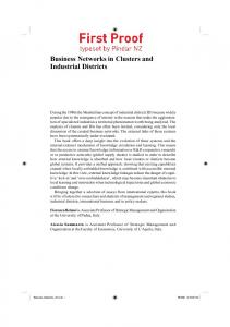 Business Networks in Clusters and Industrial Districts
