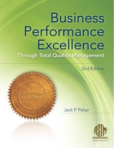 Business Performance Excellence through Total Quality Management
