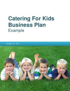 Business Plan Example - Catering for Kids Business Plan