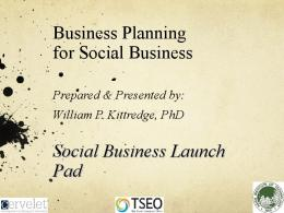 Business Planning for Social Business Social ...