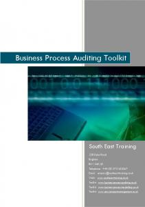 Business Process Auditing Toolkit