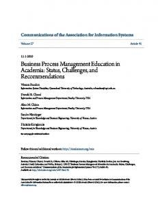 Business Process Management Education in ... - Semantic Scholar