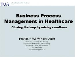 Business Process Management in Healthcare