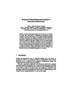 Business Process Reengineering Role in Electronic ... - CiteSeerX