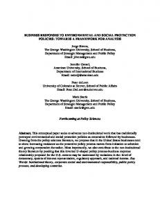 BUSINESS RESPONSES TO ENVIRONMENTAL AND ... - SSRN papers